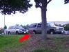 car blocking hydrant looking west