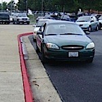 Photo exposé : Ongoing and dangerous illegal parking at Albemarle High School