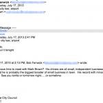 Fenwick email Dede