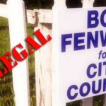 Stuck on stupid: Candidate Fenwick doubles down on illegal campaign signs